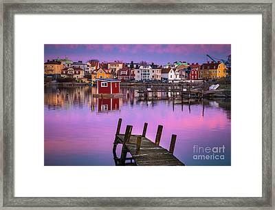 Salto Island Stillness Framed Print by Inge Johnsson
