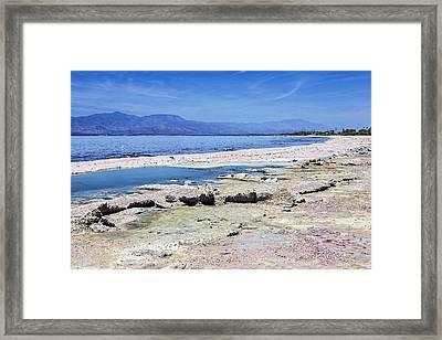 Salton Sea Shore Framed Print by Kelley King