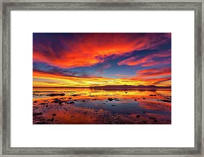 Salton Sea Sunset Framed Print by Peter Tellone