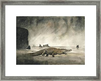 Saltwater Crocodile Framed Print