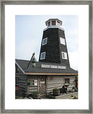 Salty Dawg Saloon Framed Print by April Camenisch