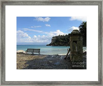 Salty Greek Port In Autumn  Framed Print by Clay Cofer