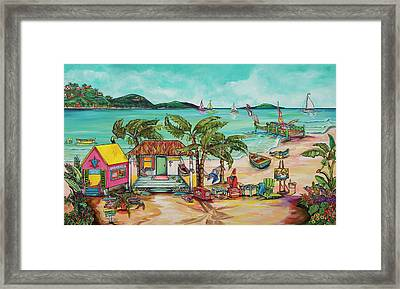 Framed Print featuring the painting Salty Kisses And Star Fish Wishes by Patti Schermerhorn