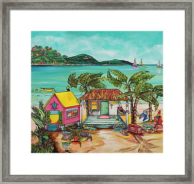 Framed Print featuring the painting Salty Kisses Smaller Version by Patti Schermerhorn