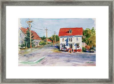 Salty Market, North Truro Framed Print by Peter Salwen