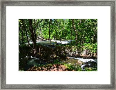 Framed Print featuring the photograph Saluda River Columbia Sc by Lisa Wooten
