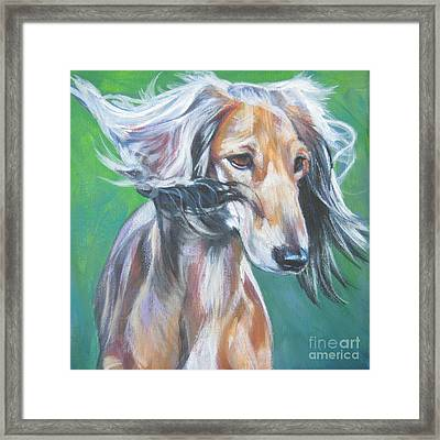 Saluki Framed Print by Lee Ann Shepard