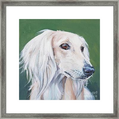 Saluki Sighthound Framed Print by Lee Ann Shepard