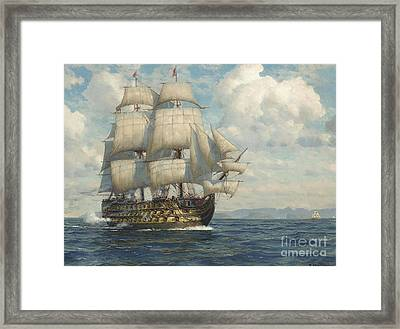 Salute As She Approaches Framed Print by MotionAge Designs