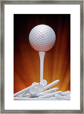 Salute To Golf Framed Print by Tom Mc Nemar