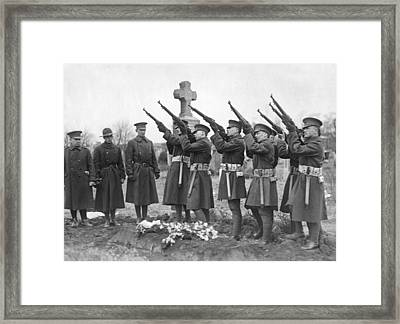 Salute To Wwi Soldier Framed Print