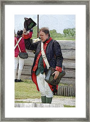 Saluting General George Washington Framed Print by Diane E Berry
