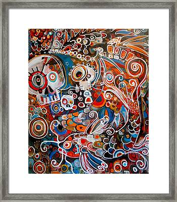 Salvador And The Giant Koi Framed Print