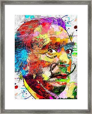 Salvador Dali Grunge Framed Print by Daniel Janda