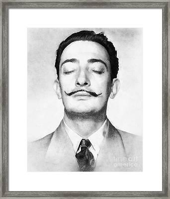 Salvador Dali, Infamous Artist Framed Print