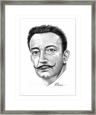 Salvador Dali Framed Print by Murphy Elliott