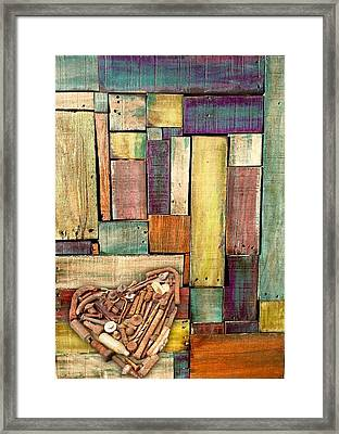 Salvaged Heart  Framed Print by Dawn Bearden