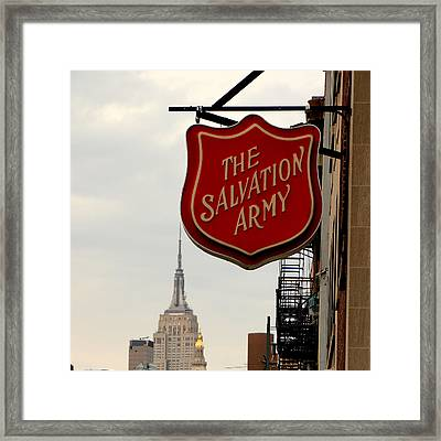 Salvation Army New York Framed Print by Andrew Fare