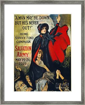 Salvation Army Poster, 1919 Framed Print by Granger