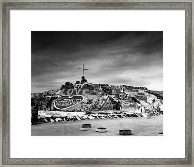 Salvation Mountain Framed Print by Alex Snay