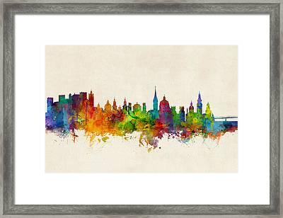 Salzburg Austria Skyline Framed Print by Michael Tompsett