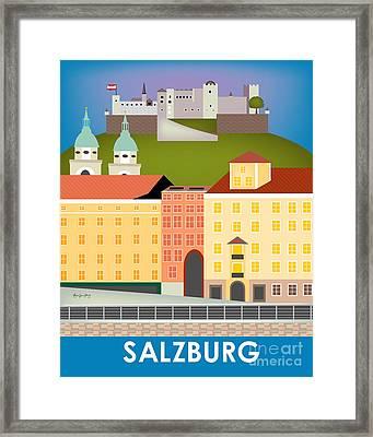 Salzburg Austria Vertical Scene Framed Print by Karen Young