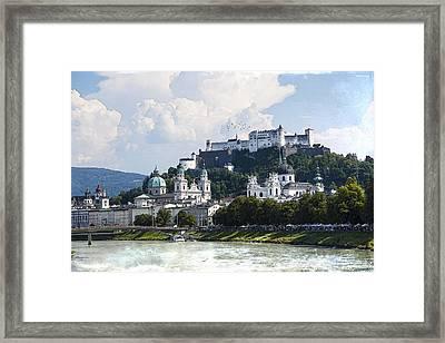Salzburg Castle Framed Print by Ron Jones