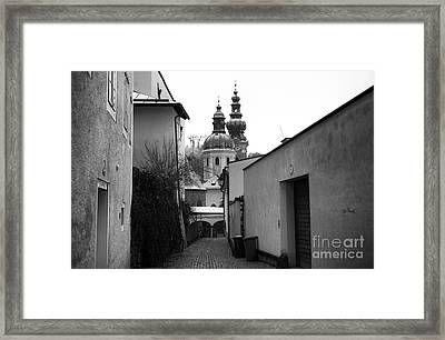 Salzburg Domes In The Distance Framed Print