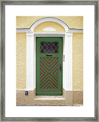 Salzburg Door Framed Print by Derek Selander