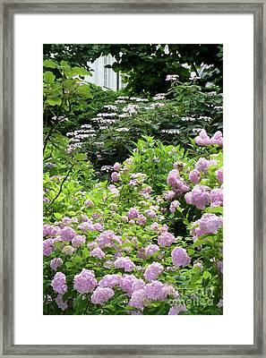 Salzburg Garden With Vignette Framed Print by Carol Groenen