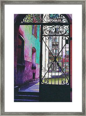 Framed Print featuring the photograph Salzburg Gate by Kate Word