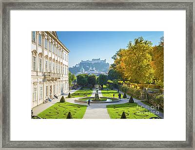 Salzburg In Fall Framed Print by JR Photography