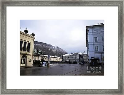 Salzburg Morning Tones Framed Print by John Rizzuto
