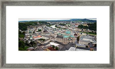 Salzburg Panoramic Framed Print by Adam Romanowicz