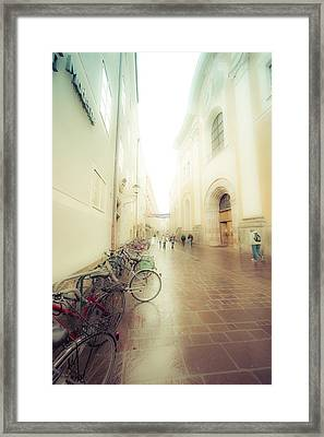 Salzburg Rain Framed Print