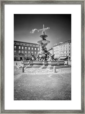 Salzburg Residence Square Monochrome Framed Print