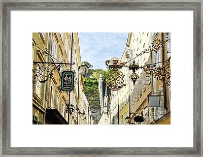 Salzburg Shopping Framed Print