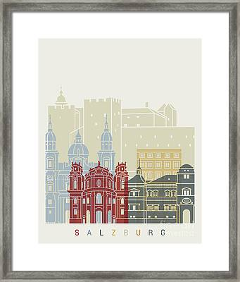 Salzburg Skyline Poster Framed Print