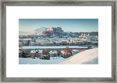 Salzburg Winter Morning Framed Print