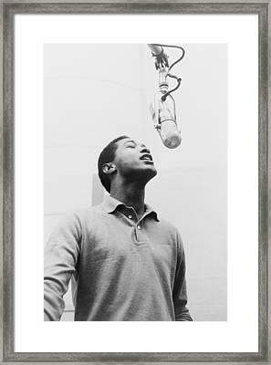 Sam Cooke, 1931-1964 Singing Framed Print by Everett