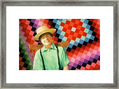 Sam Framed Print by Faye Ziegler