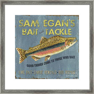 Sam Egan's Bait And Tackle Framed Print
