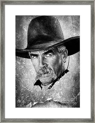 Sam Elliot Framed Print