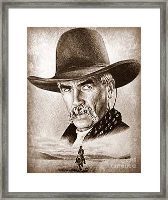 Sam Elliot The Lone Rider Framed Print by Andrew Read