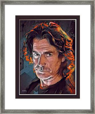 Sam Elliott Color Illustration Framed Print