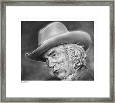 Sam Elliott Framed Print by Greg Joens