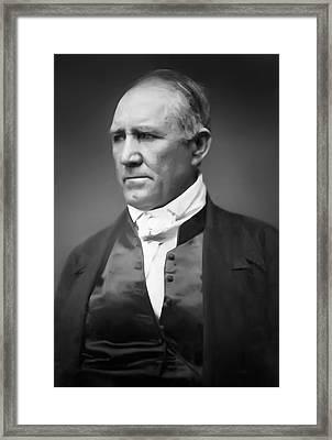 Sam Houston  1849 Framed Print