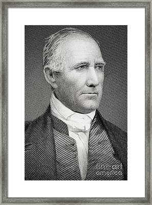 Sam Houston Framed Print by American School
