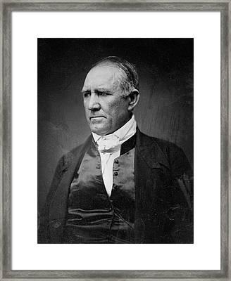 Sam Houston Of Texas  1849 Framed Print