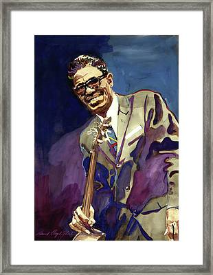 Sam Lightnin Hopkins Framed Print by David Lloyd Glover